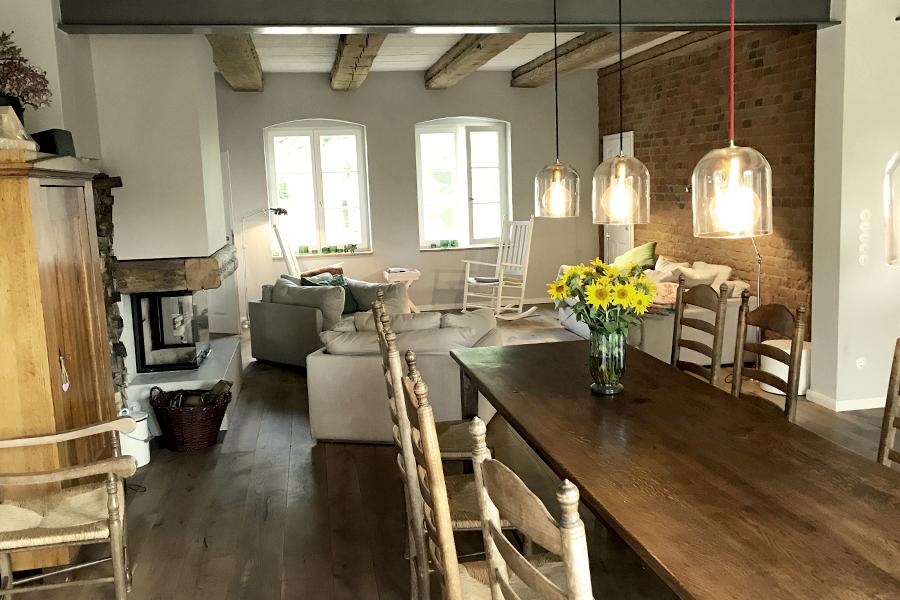 haus auf dem land ferienhaus brandenburg wohnzimmer bild 1